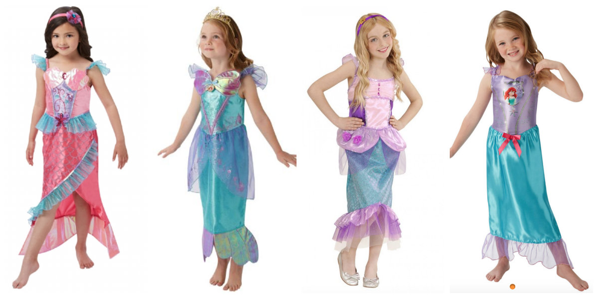 collage 10 - Disney prinsesse kostume til børn