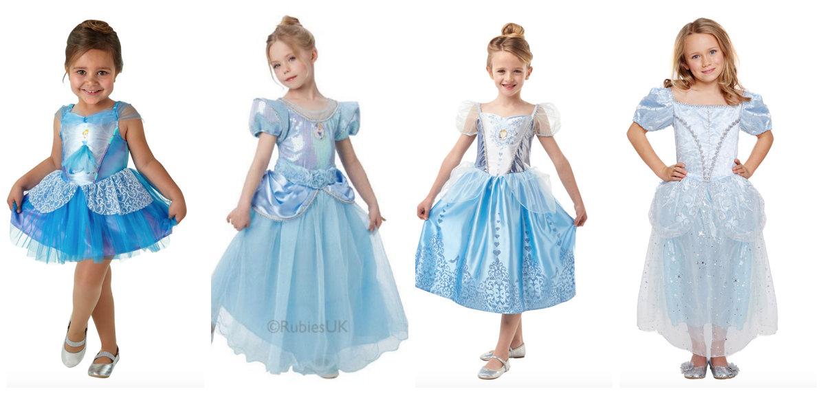 collage 2 - Disney prinsesse kostume til børn