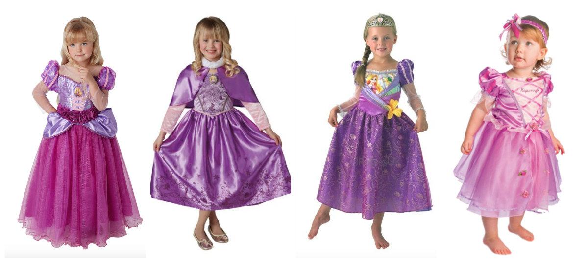 collage 4 - Disney prinsesse kostume til børn