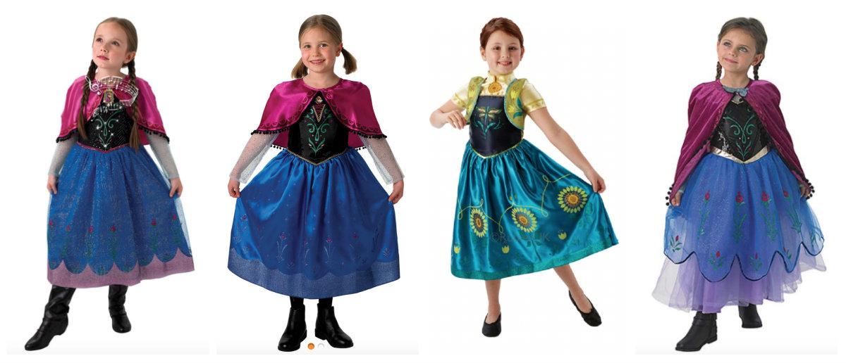 collage 5 - Disney prinsesse kostume til børn