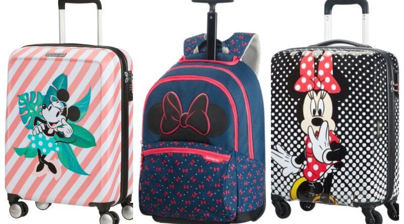 minnie mouse kuffert, minnie mouse trolley, minnie mouse kuffert med 4 hjul, minnie mouse rejseartikler, minnie mouse rejsekuffert, disney trolley, disney kuffert