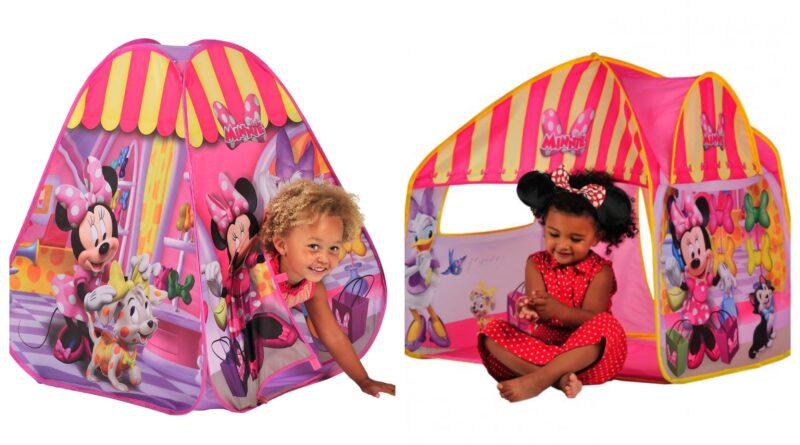 minnie mouse legetelt, minnie mouse telt til børn, minnie mouse strandtelt, minnie mouse børnetelt, legetelt med minnie mouse, disney legetelt