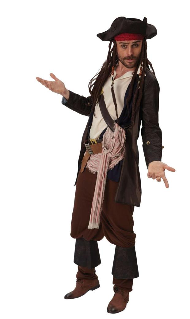 Jack sparrow kostume til voksne - Jack Sparrow kostume til voksne