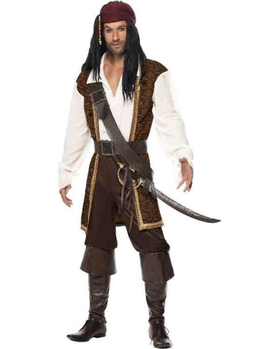 jack sparrow sørøver ksotume - Jack Sparrow kostume til voksne