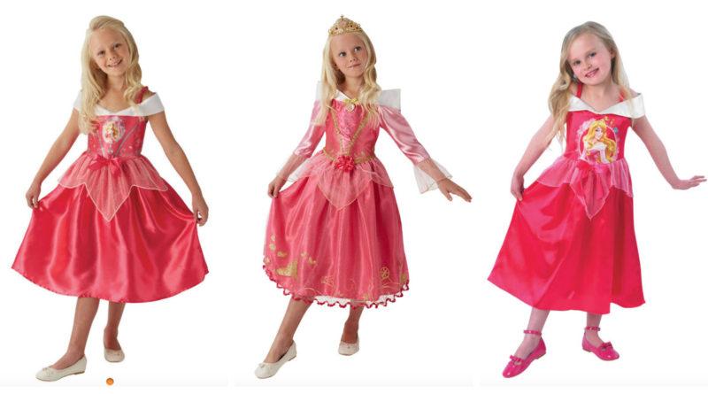 Tornerose kostume til børn