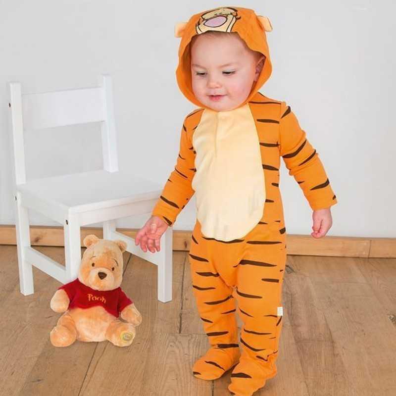 tigerdyr baby body - Peter Plys kostume til baby