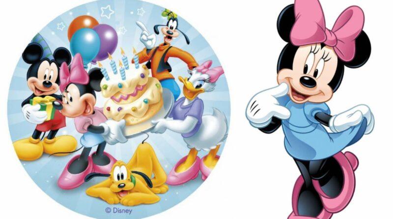 Minnie mouse kageprint, minnie mouse sukkerprint, minnie mouse spiseligt billede, minnie mouse nemme kager, minnie mouse kager, minnie mouse fødselsdag, disney kageprint, disney sukkerprint, disney spiselige billeder, alletiders disney