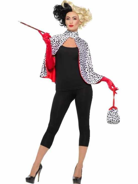 Cruella de vil sæt - Cruella De vil kostume til voksne