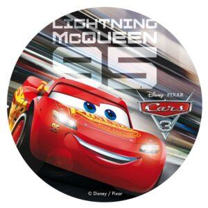 Mcqueen sukkerprint 300x300 - Cars kageprint