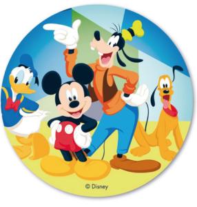 Mickey og venner kageprint 286x300 - Mickey Mouse kageprint
