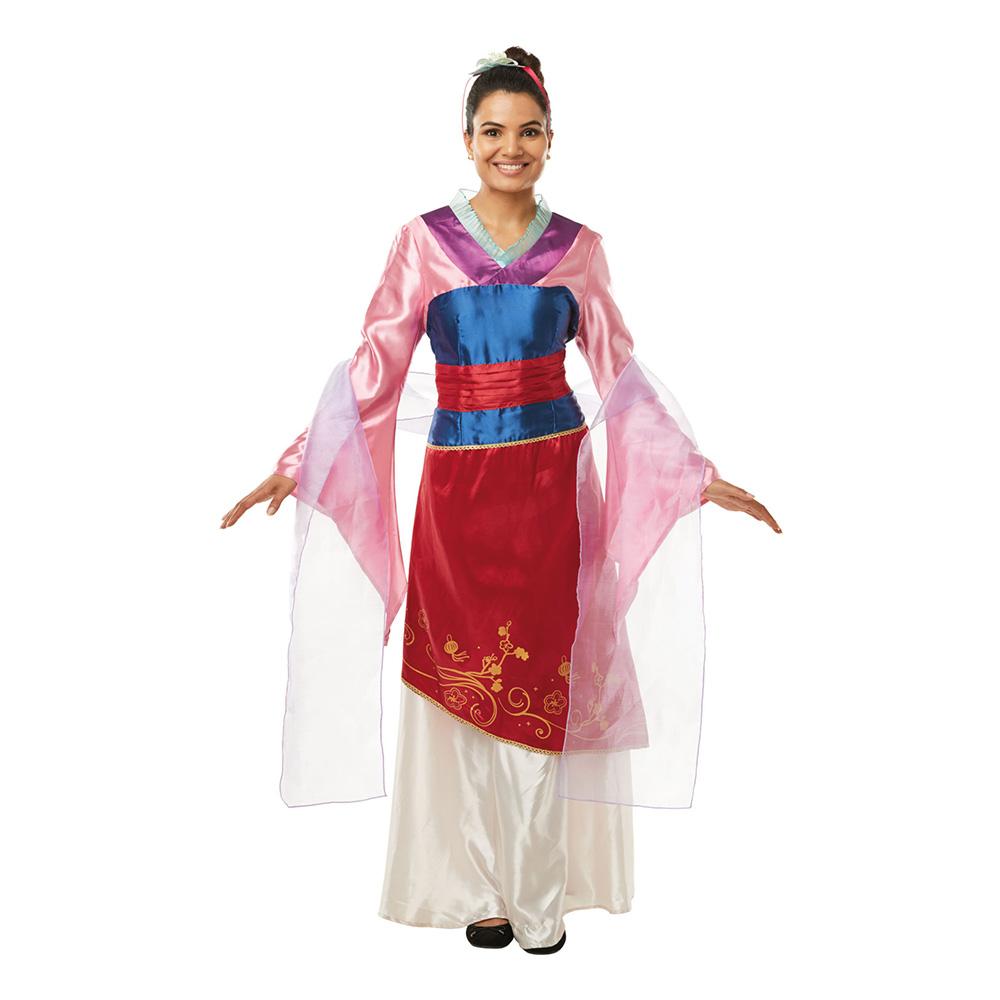 disney prinsessor mulan maskeraddrakt 1 - Mulan kostume til voksne