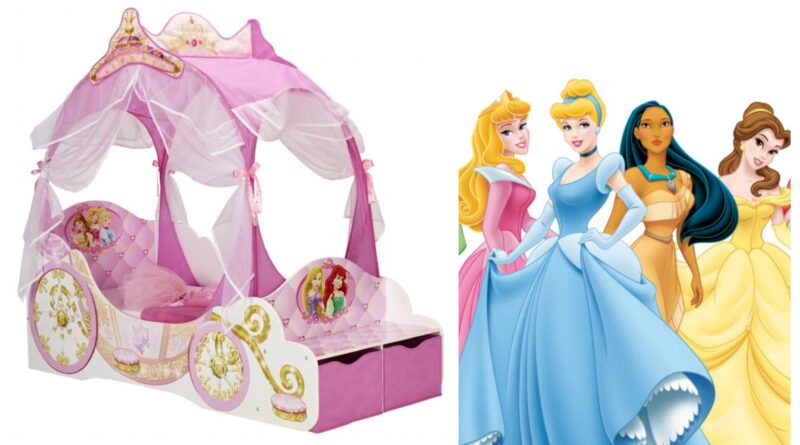 disney prinsesse seng, disney prinsesse juniorseng, disney prinsesse børneseng, disney prinsesser juniorseng, disney prinsesse møbler til børneværelset, disney prinsesse børnemøbler