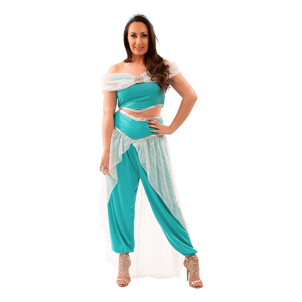 Jasmin voksenkostume - Aladdin kostume til voksne