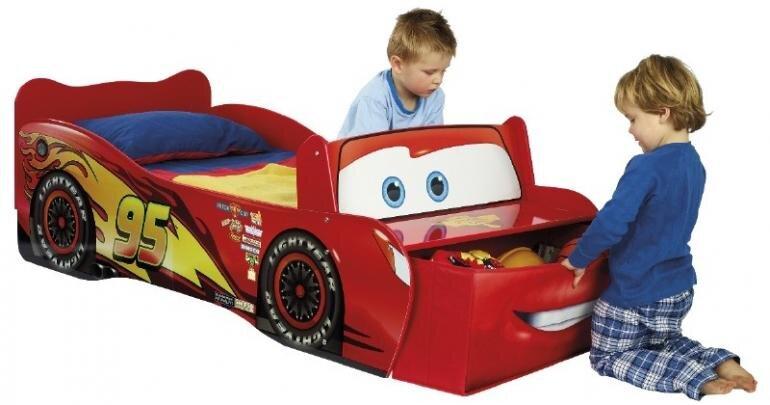 Mcqueen juniorseng med opbevaringskasse - Mcqueen juniorseng - Cars seng de mindste