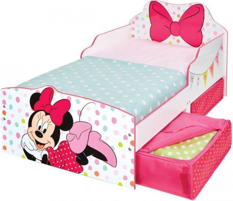 Minnie Mouse seng med skuffer - Minnie Mouse juniorseng