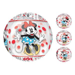 Minnie mouse ballon med print 300x300 - Minnie Mouse folieballon - til Minnie Mouse fødselsdagsfesten