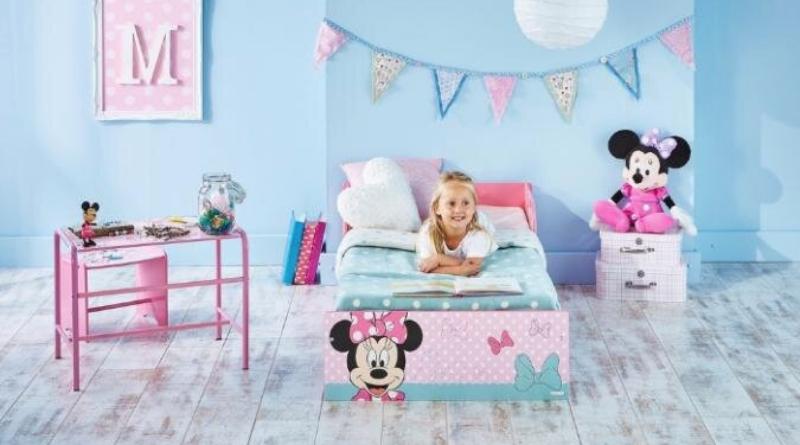 minnie mouse juniorseng, minnie mouse børneseng, minnie mouse seng, minnie mouse seng med skuffer, minnie mouse seng til børn, Minnie mouse møbler, minnie mouse gaver