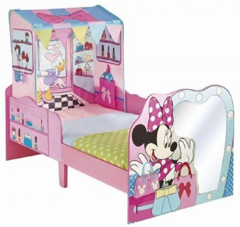 Pigeseng med Minnie Mouse - Minnie Mouse juniorseng