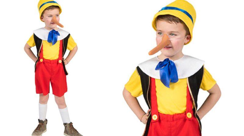 pinocchio kostume til børn, pinocchio børnekostume, pinnochio kostumer, pinnochio udklædning til børn, disney kostume til børn, disney børnekostumer, disney fastelavnskostume til børn