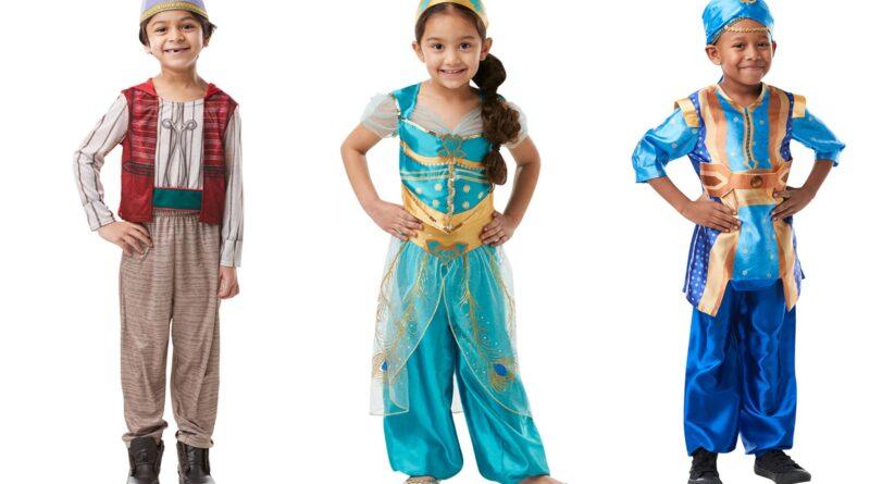 Aladdin kostume til børn, aladdin udklædning til børn, aladdin børnekostume, aladdin kostumer, genie kostume til børn, genie børnekostume, jasmin kostume til børn, Jasmin børnekostume, disney kostumer, disney børnekostume, disney kostume til børn, disney fastelavnskostumer til børn
