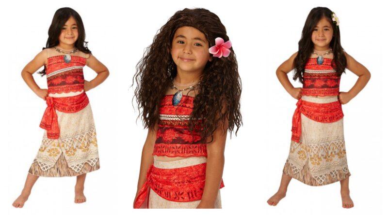 vaiana kostume til børn, vaiana børnekostume, vaiana udklædning til børn