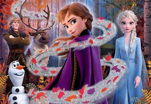 Frost puslespil med glitter - Frost 2 puslespil - for børn og barnelige sjæle
