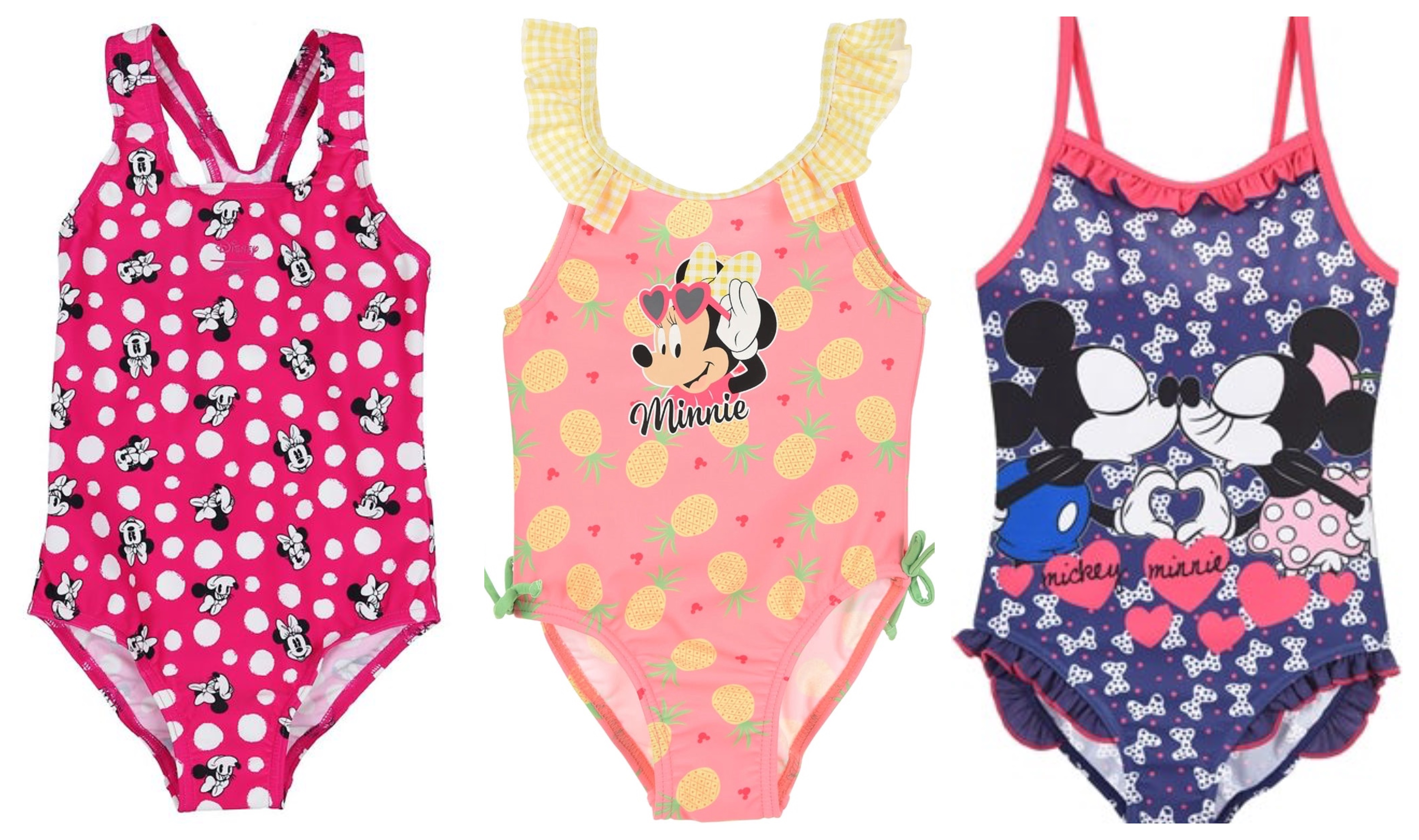 Minnie mouse badetøj, minnie mouse bikini, minnie mouse badebukser, minnie mouse badedragt, disney badetøj til børn, disney bikini til børn, disney badedragt til børn