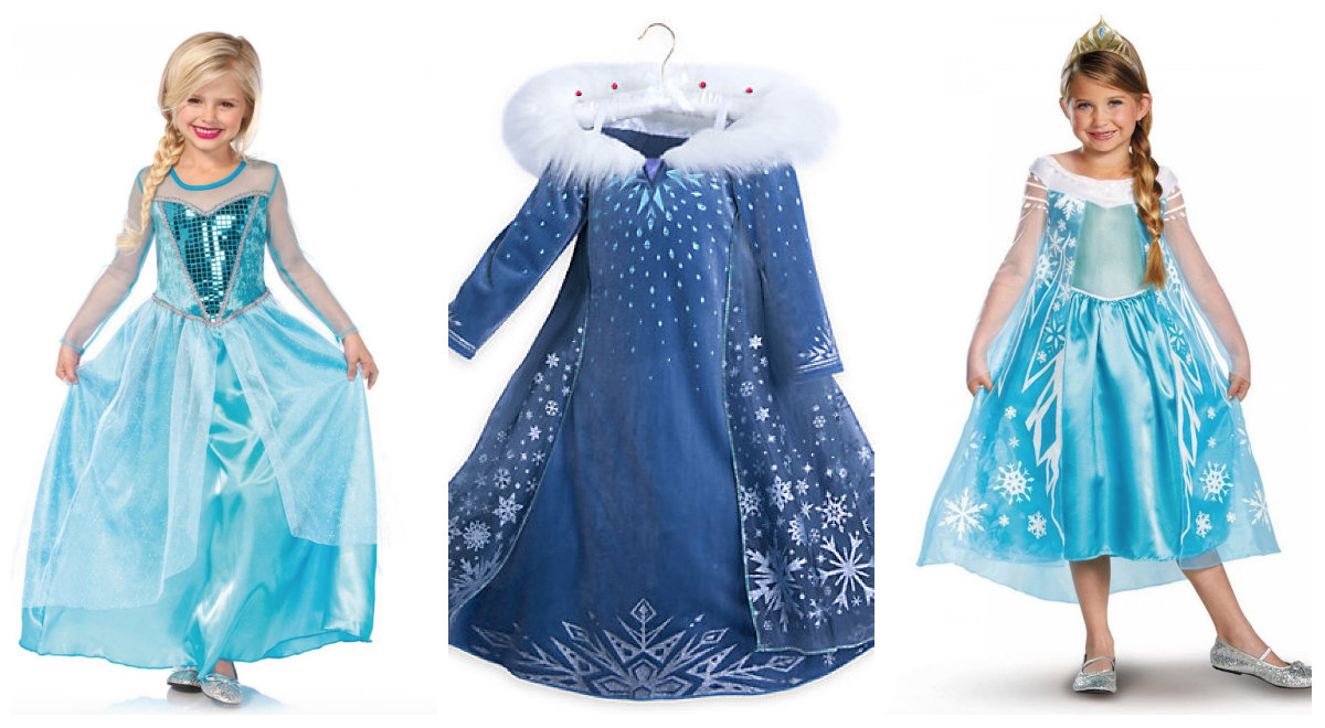 Ultramoderne elsa-kostume-til-børn - Alletiders Disney JI-04
