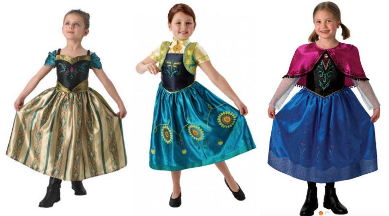 Ubrugte Anna kostume til børn - Alletiders Disney IF-06