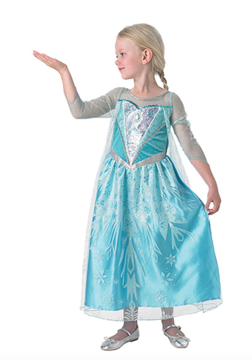 Lækker Elsa kostume til børn - Alletiders Disney QA-68