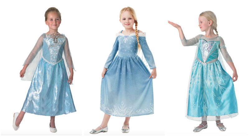 Folkekære Elsa kostume til børn - Alletiders Disney OM-06