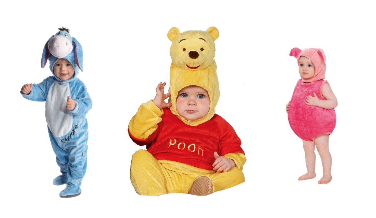 Peter Plys kostume til baby