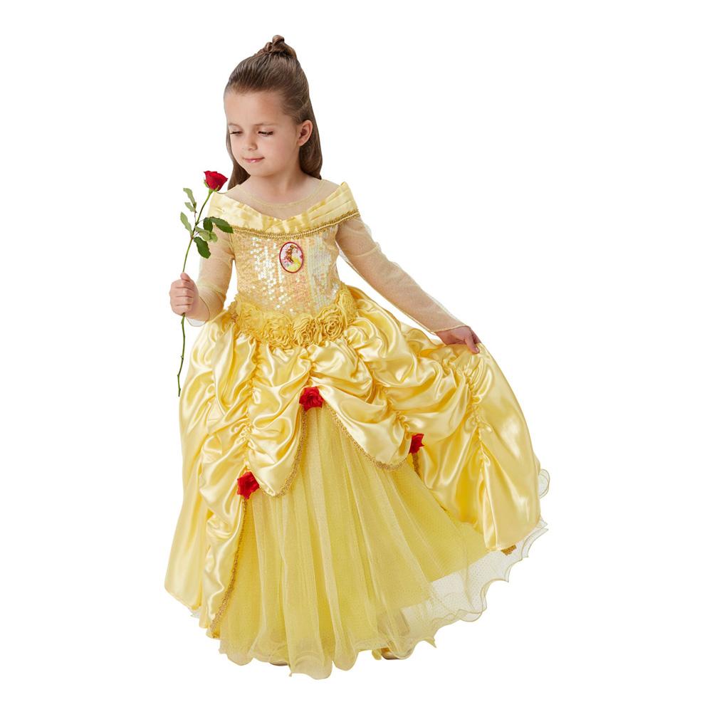 Belle kjole til børn - Disney prinsesse kostume til børn