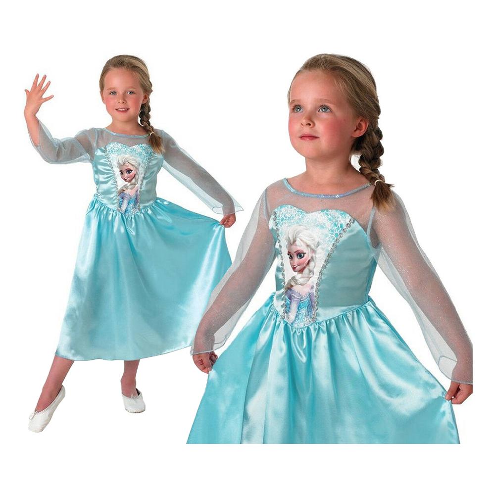Elsa kjole - Disney prinsesse kostume til børn