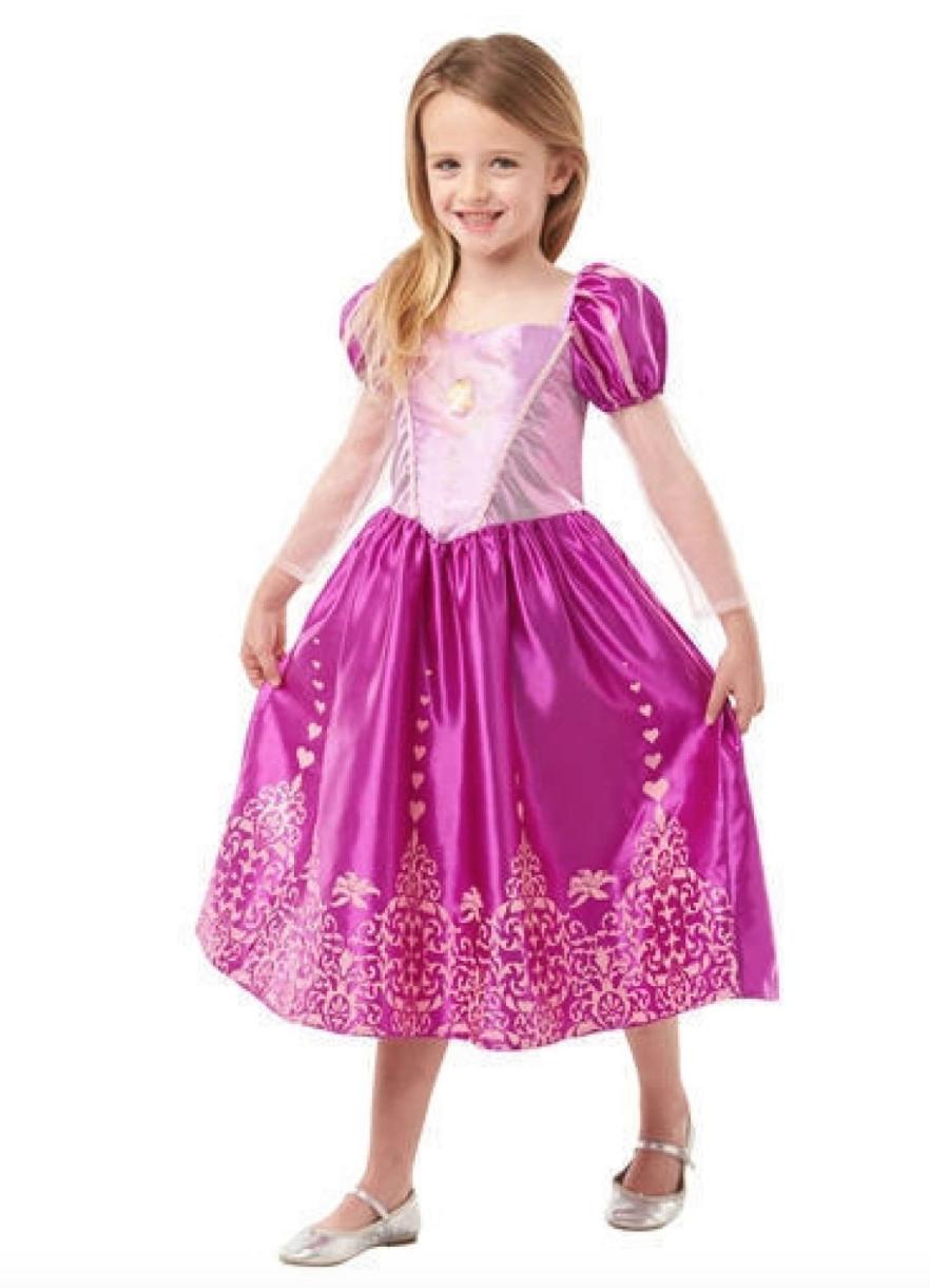 Rapunzel kjole - Disney prinsesse kostume til børn