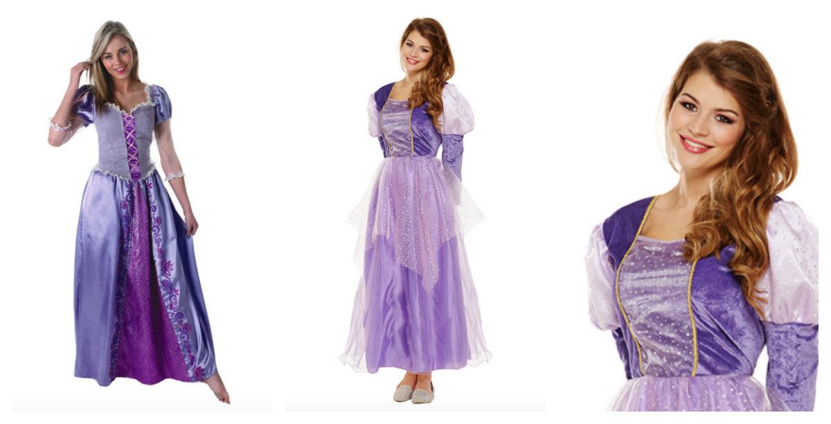 Rapunzel kostume til voksne