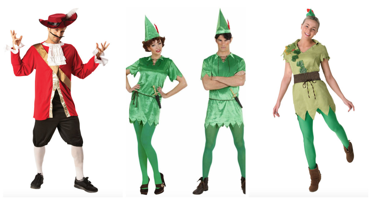 peter pan kostume til voksne, peter pan voksenkostume, kaptajn klo kostume til voksne, kaptajn klo voksenkostume, peter pan kostumer, disney kostumer til voksne, disney voksenkostumer, alletiders disney