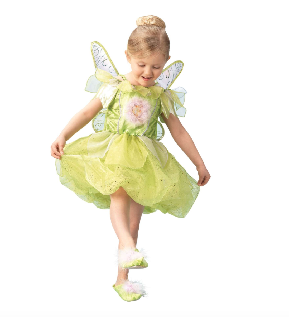 klokkeblomst kostume til børn, klokkeblomst udklædning til børn, klokkeblomst tøj til børn, klokkeblomst kjole til børn, peter pan kostume til børn, disney børnekostumer, disney kostumer til børn, alletiders disney
