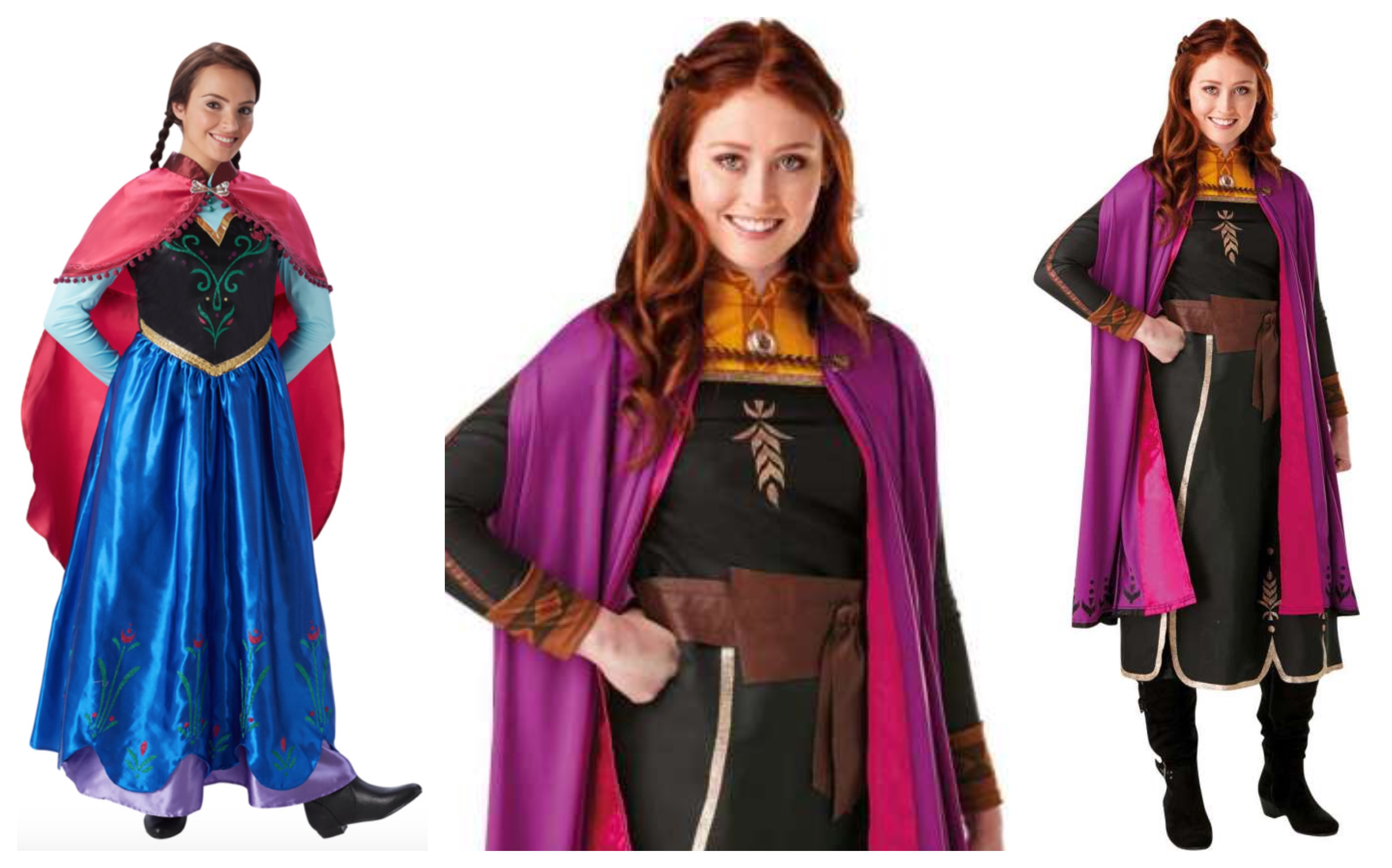 Anna disney prinsesse kostume til voksne - Disney prinsesse kostume til voksne