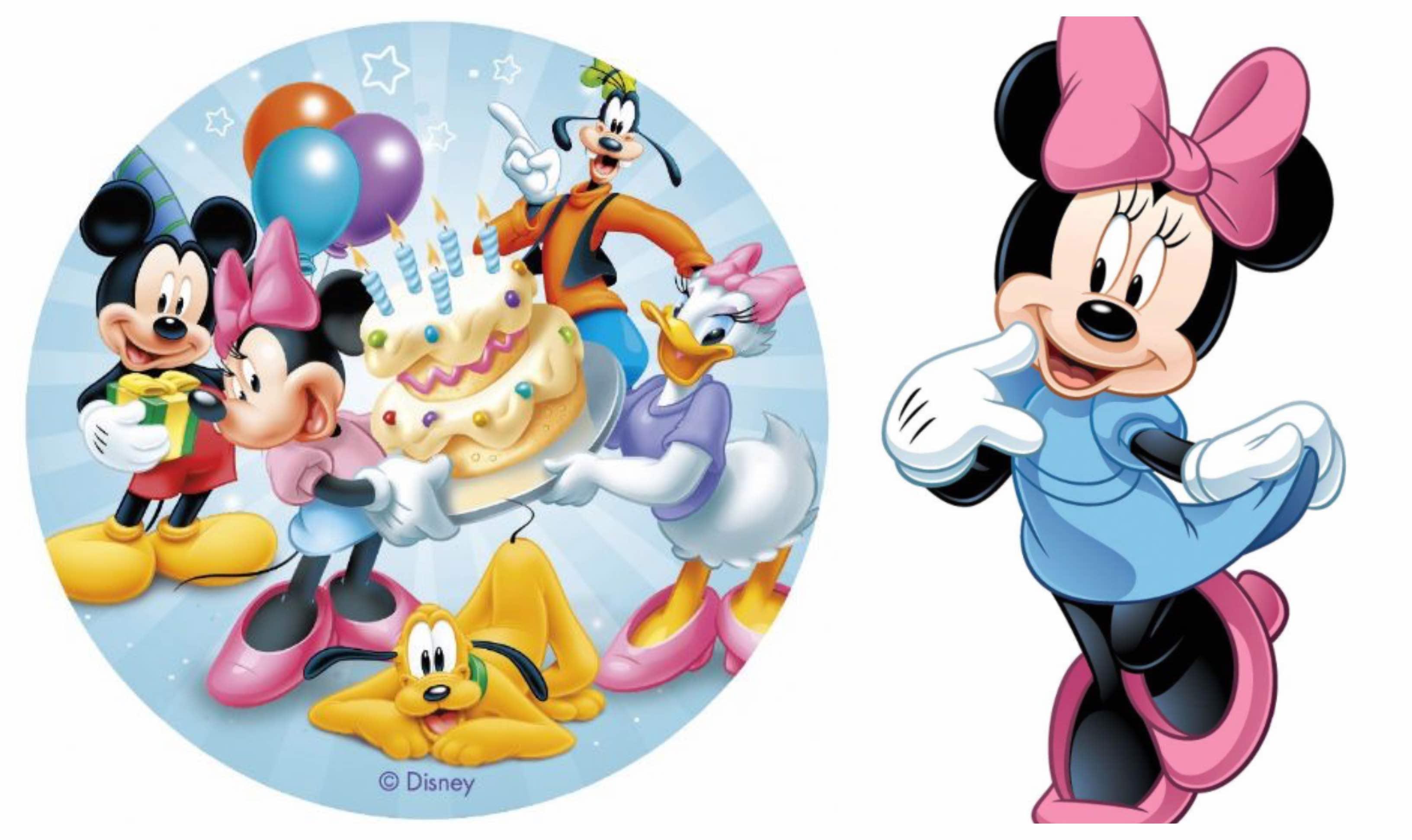 Nem Minnie Mouse kage med Minnie Mouse kageprint