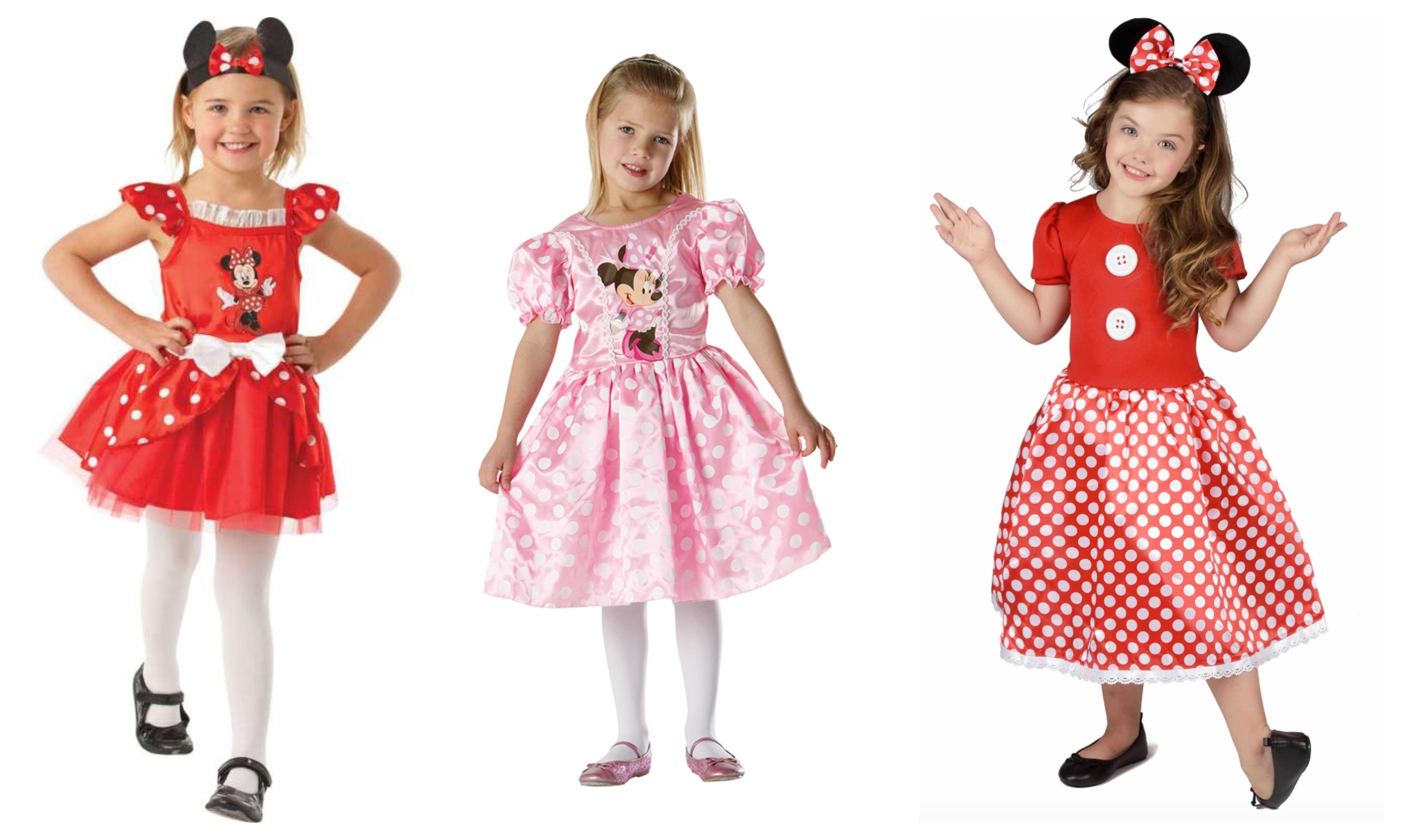 minnie mouse kostume til børn, minnie mouse udklædning til børn, minnie mouse tøj til børn, minnie mouse kjole til børn, minne mouse børnekostumer, minnie mouse fastelavnskostume, disney kostume, minnie mouse gave, disney gave, alletiders disney