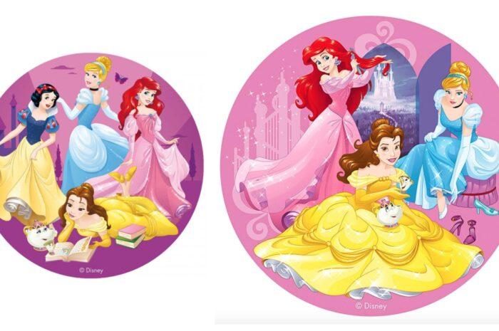 Disney prinsesser kageprint