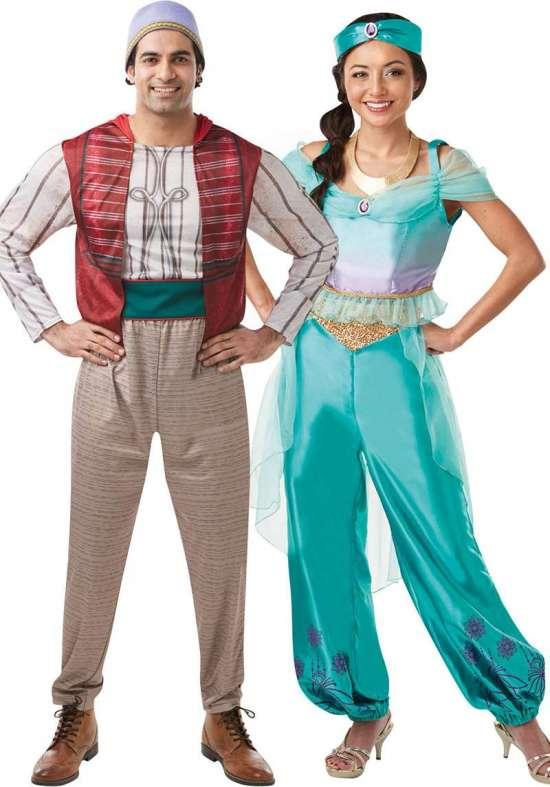 Jasmin og aladdin par kostume - Jasmin kostume til voksne