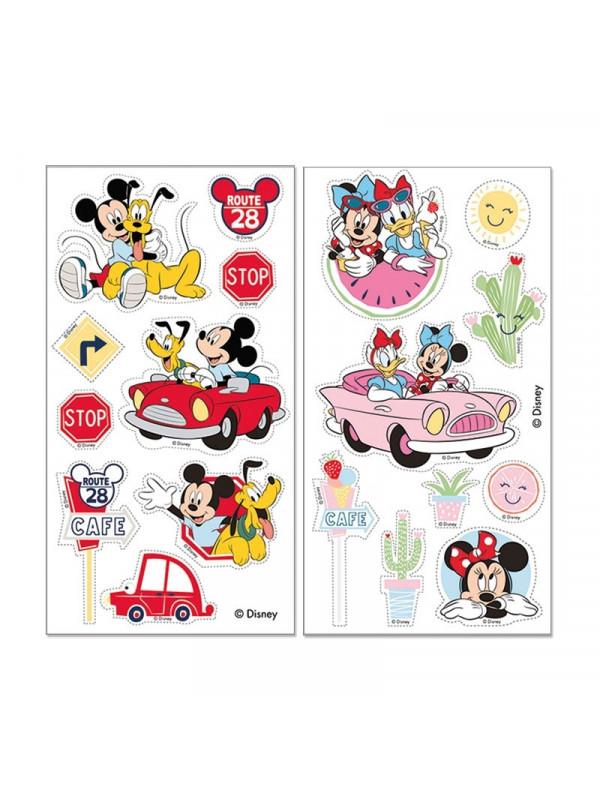 Mickey og minnie mouse muffinsprint - Nem Minnie Mouse kage med Minnie Mouse kageprint