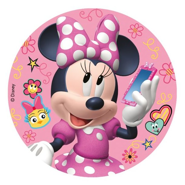 Minnie Mouse sukkerprint - Nem Minnie Mouse kage med Minnie Mouse kageprint