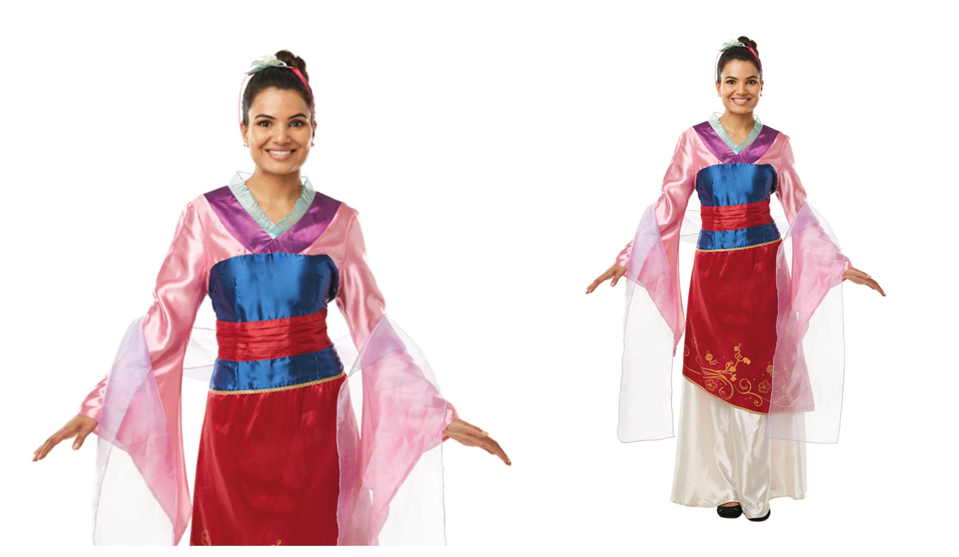 Mulan kostume til voksne
