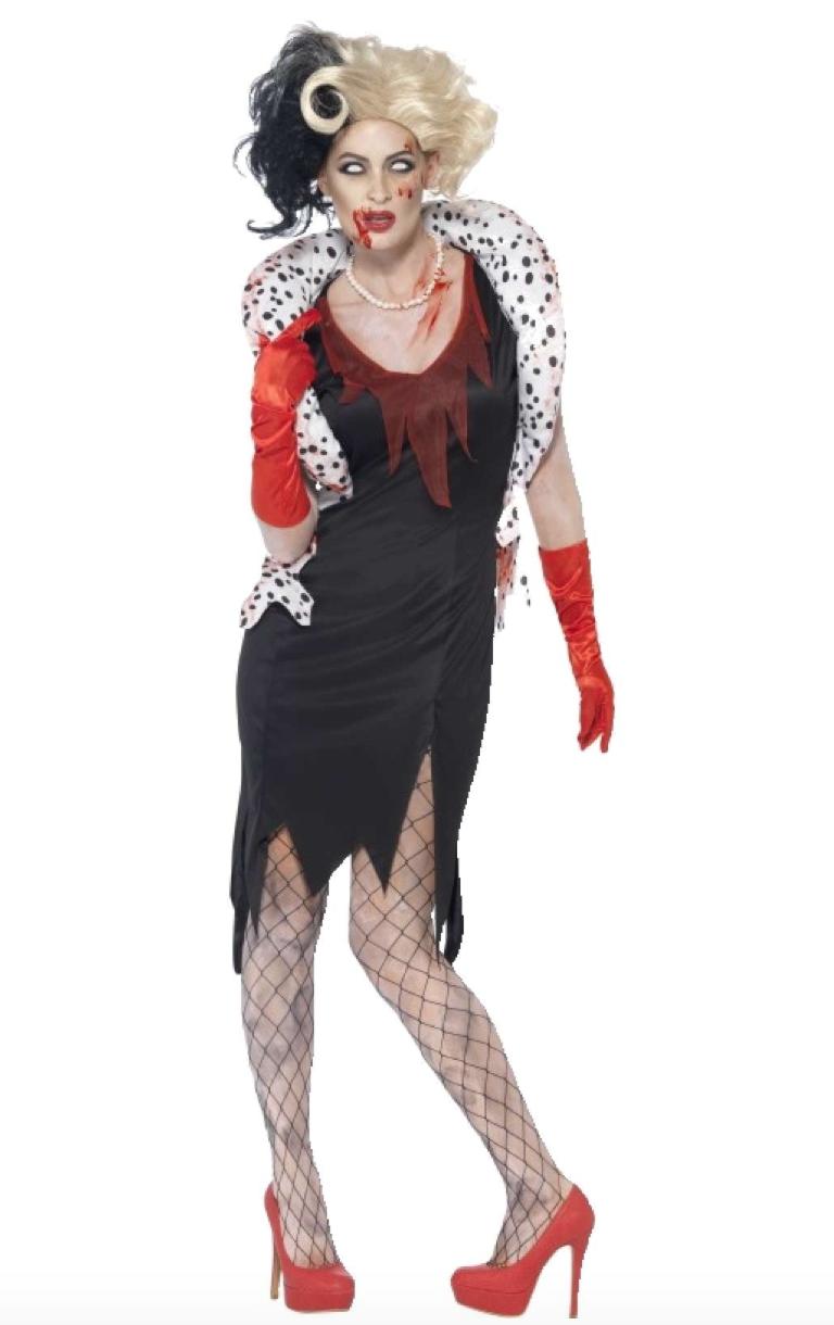 zombie cruella de vil kostume - Cruella De vil kostume til voksne