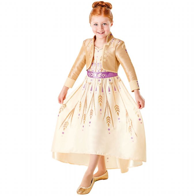 Frost 2 Anna guld kjole - Frost 2 børnekostumer