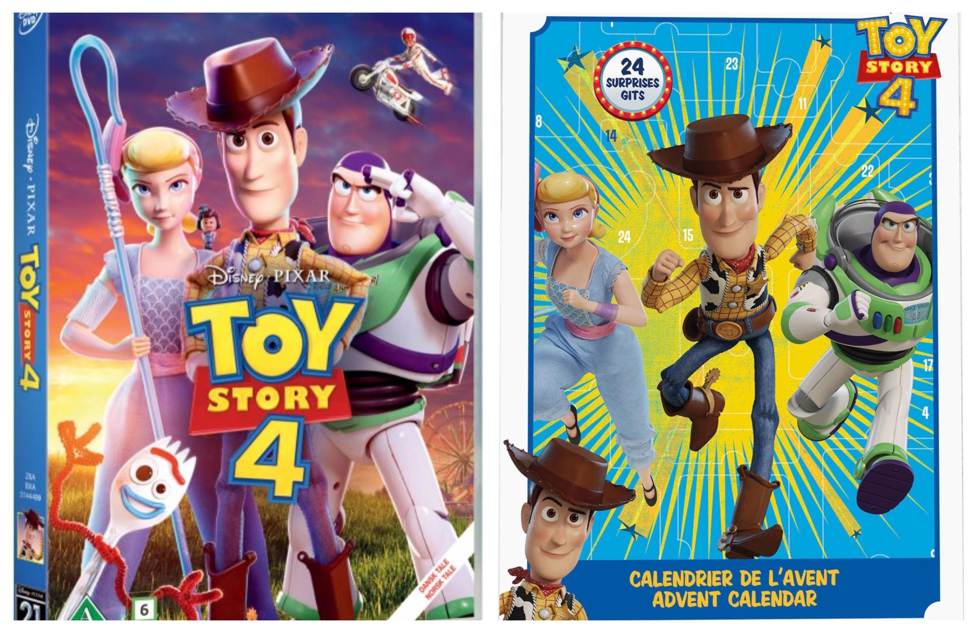 toy story 4 julekalender, toy story 4 pakkekalender, toy story 4 adventskalender, toy story 4 film, toy story 4 gaver, disney pixar julekalender, disney julekalender 2019, disney pakkekalender 2019,