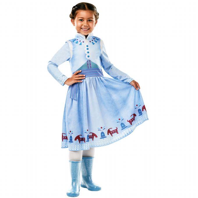 Anna frost kjole blå - Disney prinsesse kostume til børn
